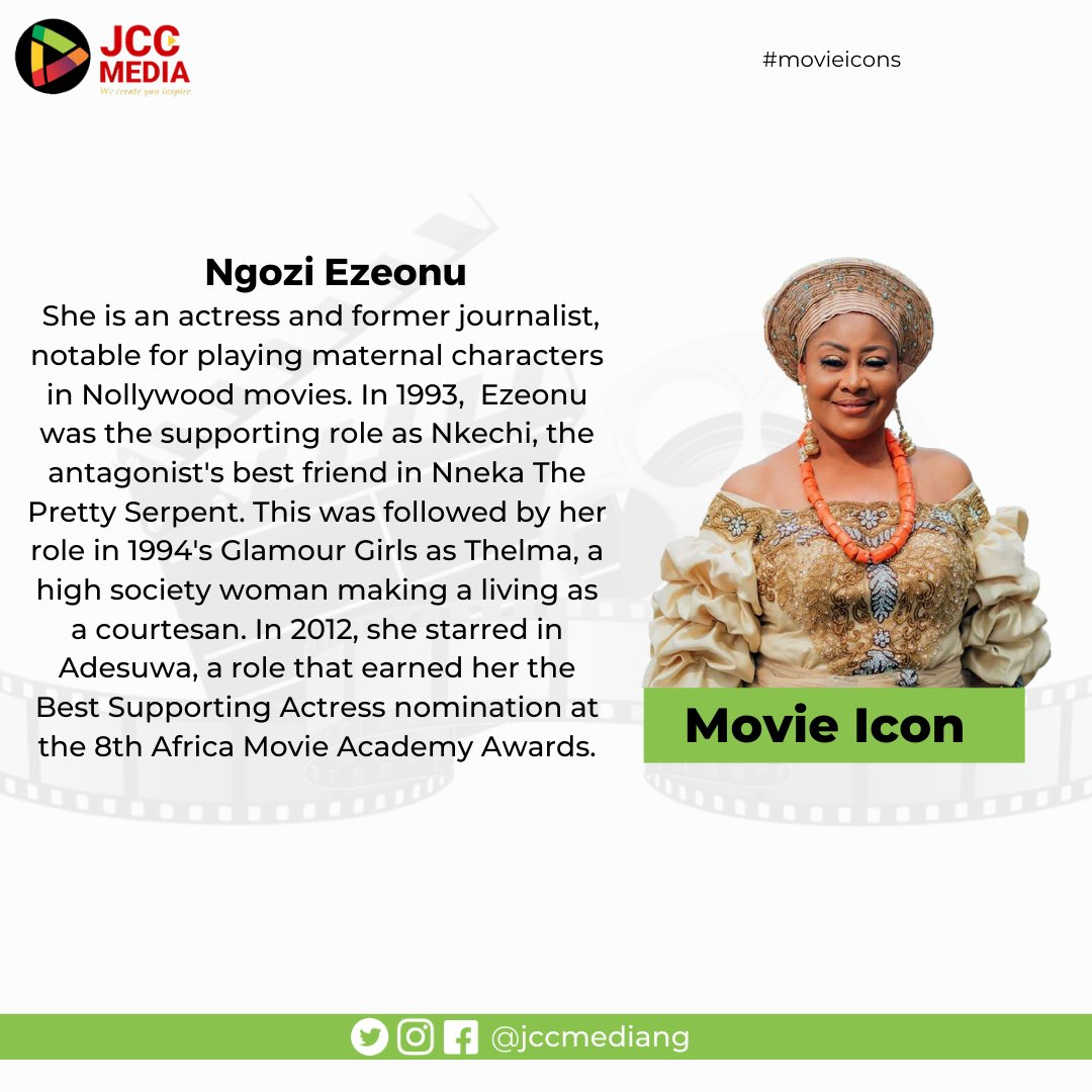 She is an actress and former journalist, notable for playing maternal characters in Nollywood movies.   #movieicon #legends #nollywoodicon #nigerianmovies #nollywoodlegend #icon #tbt #thursdayvibes #livinglegend #movieicon #nollywood #nollywoodmovies #movies  #movieveteran https://t.co/B4FfwHcAYy