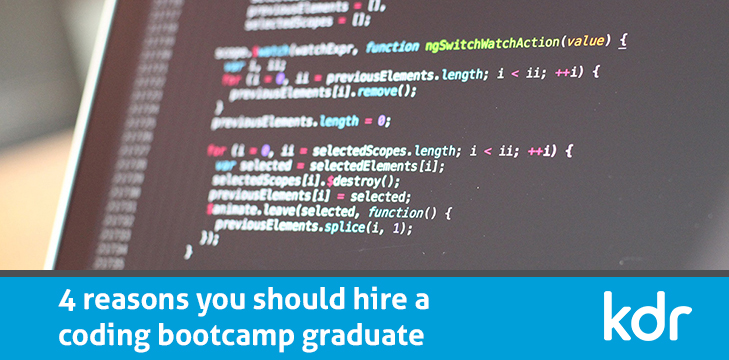 4 reasons you should hire a coding bootcamp graduate  👉 https://t.co/DDwznKk5h6  #Coding #Grad #NationalCodingWeek https://t.co/S2LVkEKJAp