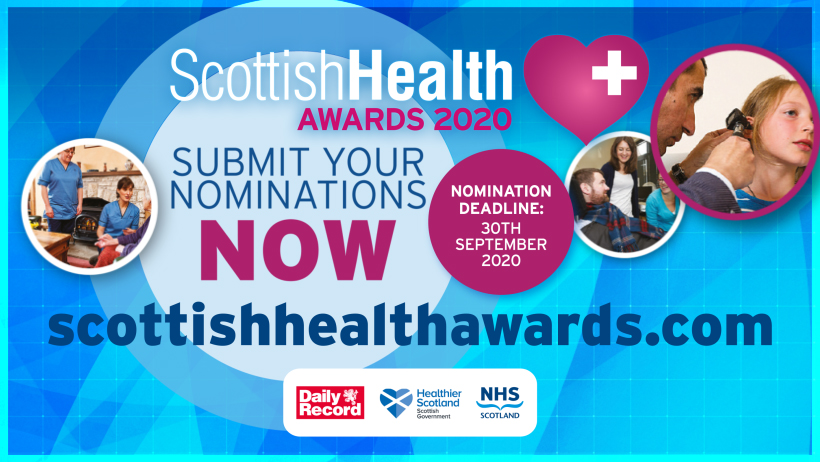 Who will you nominate for this year's #ScotHealthAwards?   Nominations are open now and will close at the end of September. Visit https://t.co/xUcYJcnbua https://t.co/NcQQOnr338