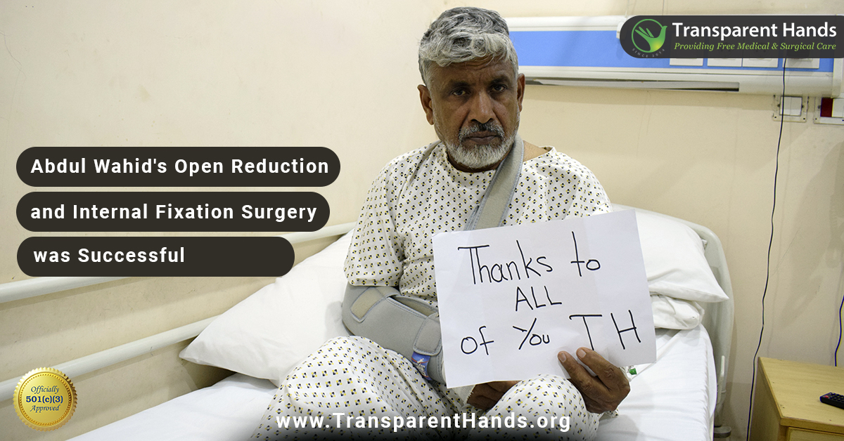 Success Story: Abdul Wahid, 60 years old, had a road traffic accident.  His fracture was fixed. He remained admitted for 3 days and was discharged in a satisfactory condition. Read her full story at https://t.co/JszwGhAYMH  Watch her story: https://t.co/3laS2Yd8pf  #SuccessStory https://t.co/9h513s11zc