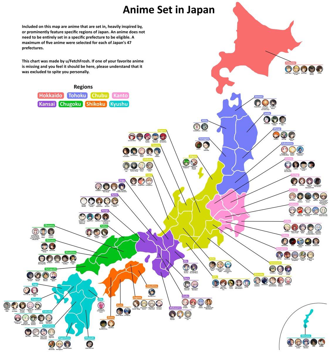 都道府県のアニメ一覧作った外国人の労力が凄い