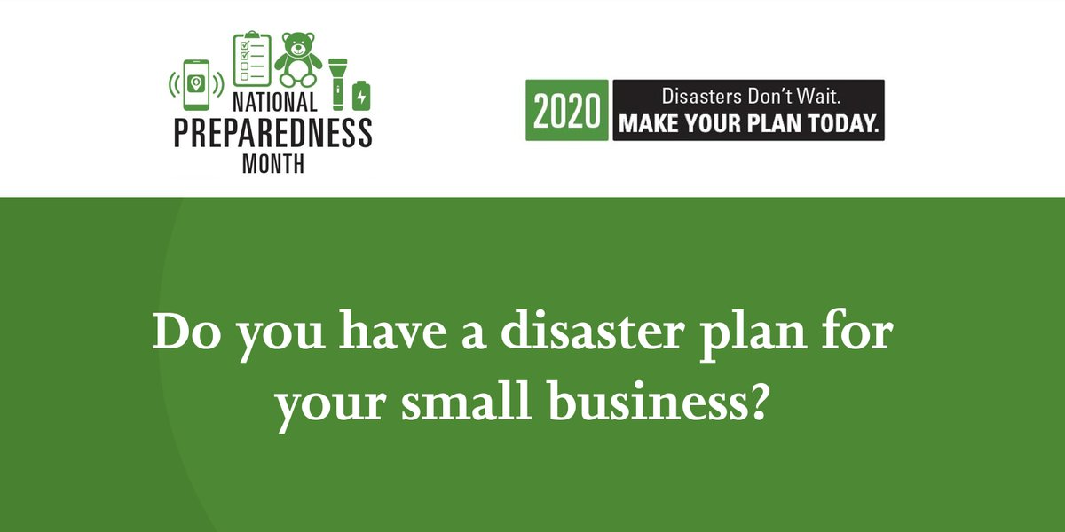 Has your small business analyzed its vulnerabilities and the potential impacts of a disaster? Plan ahead before a disaster strikes. ready.gov/planning #ReadyBusiness