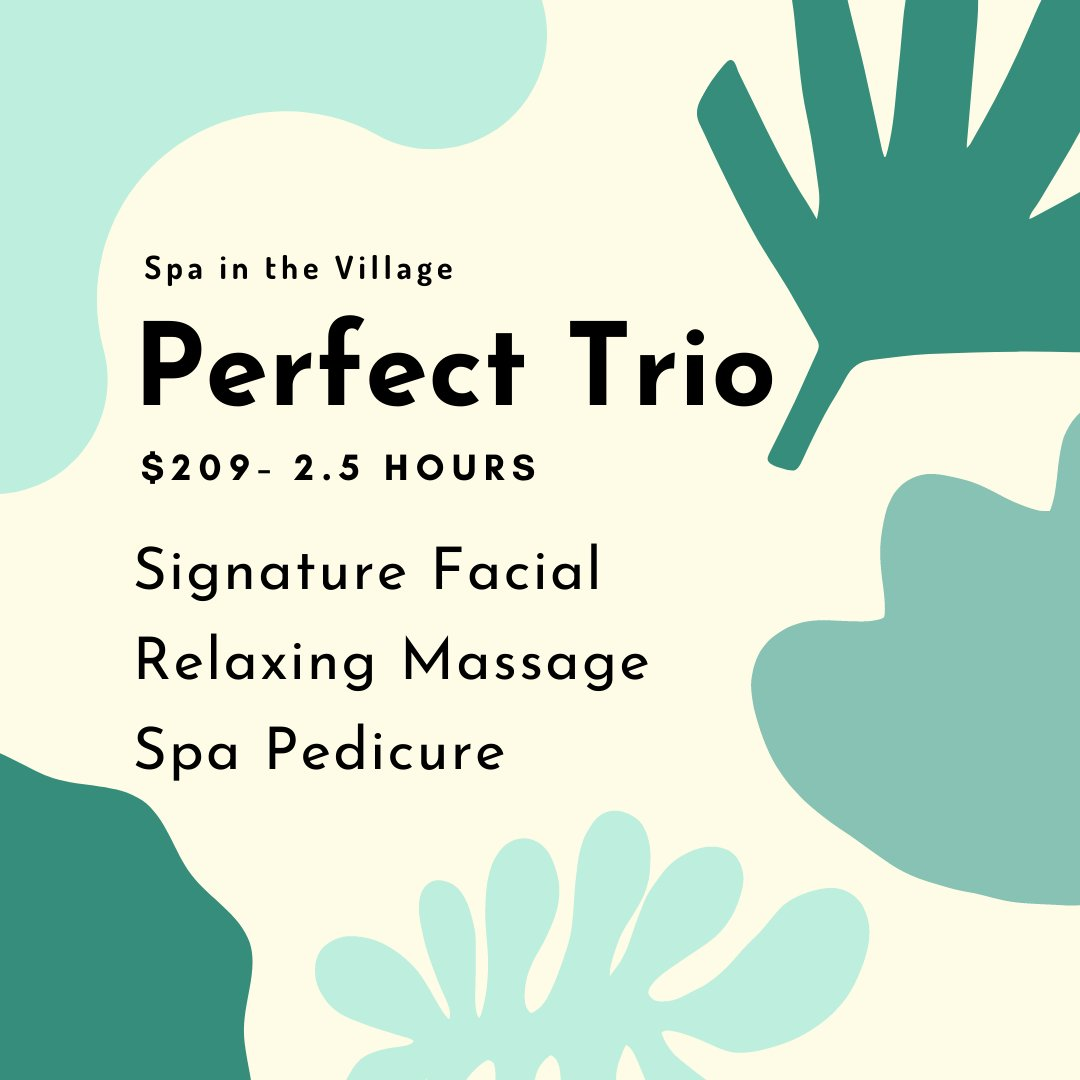 Treat yourself or a loved one to a day at the spa!!   #dtburlon #spa #relax #spaday #villagesquare #facial #massage #pedicure #burlington https://t.co/lTfZiKBAtZ