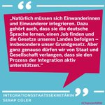 Image for the Tweet beginning: Das gesamte Interview von Integrationsstaatssekretärin