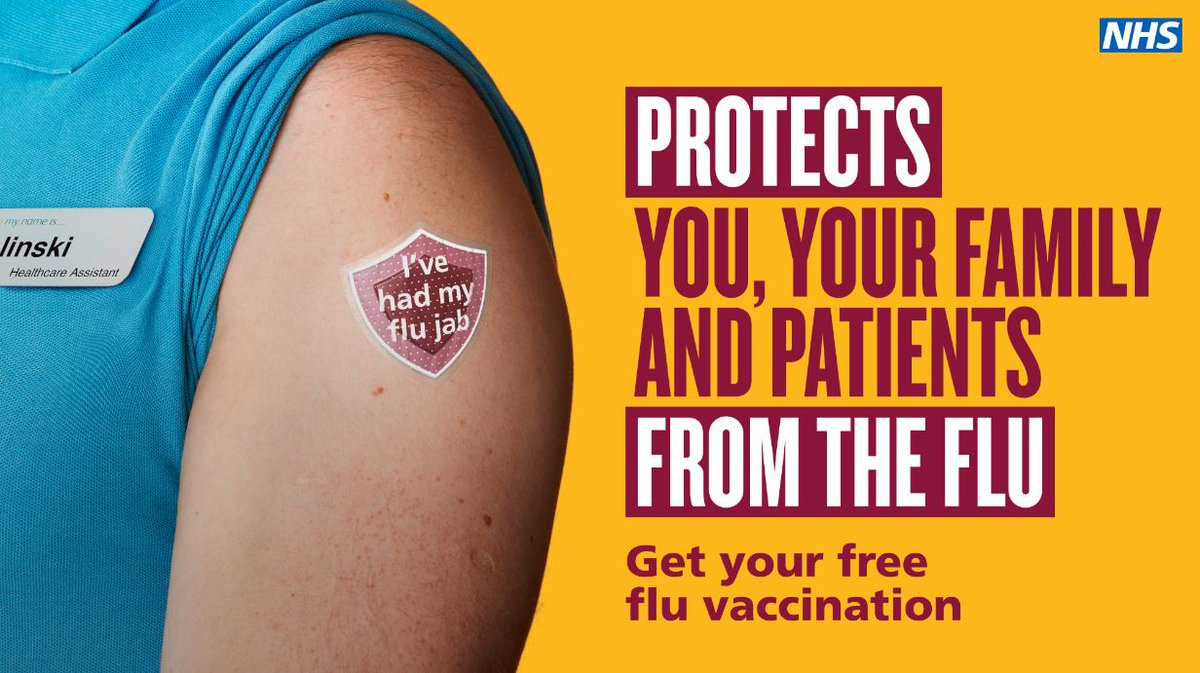 Taking good care of patients also means taking care of yourself.   Make sure you get your free annual #flu jab to protect yourself and those around you. 💉 👩⚕ https://t.co/R0KDbZ3l6B