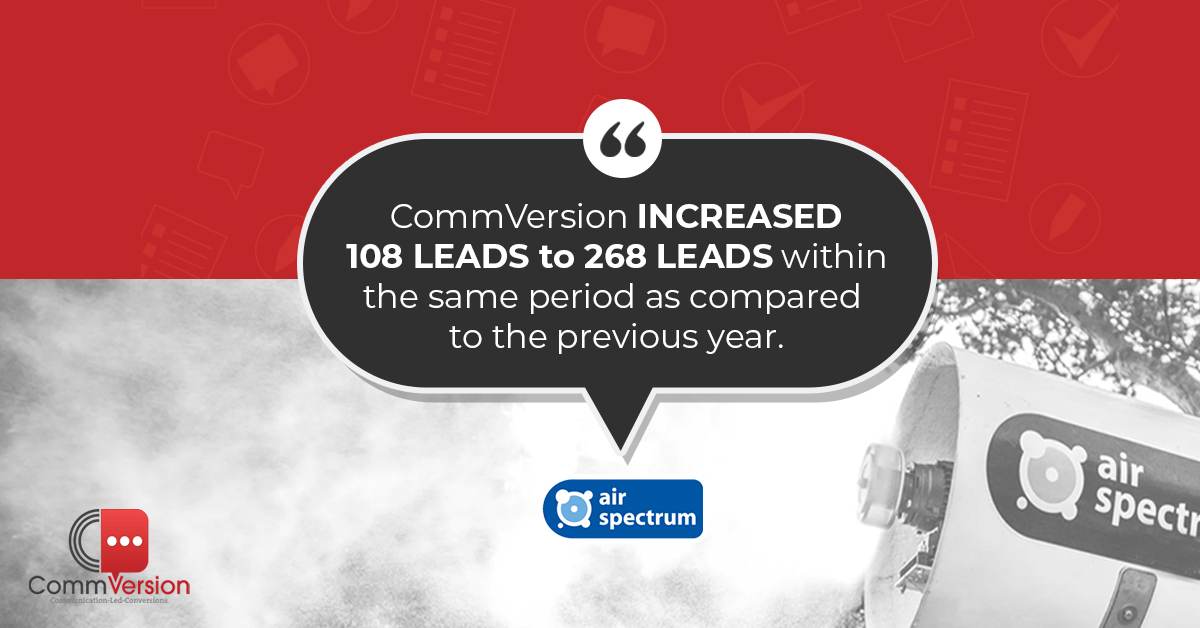 Want to know how CommVersion DOUBLED the web leads for Air Spectrum? Book a demo now and let us show you how. Case study link : https://t.co/iQdQEeO39H #leadgeneration #customerservice #b2b #successstory #clienttestimonial https://t.co/ZirF1rkg2s