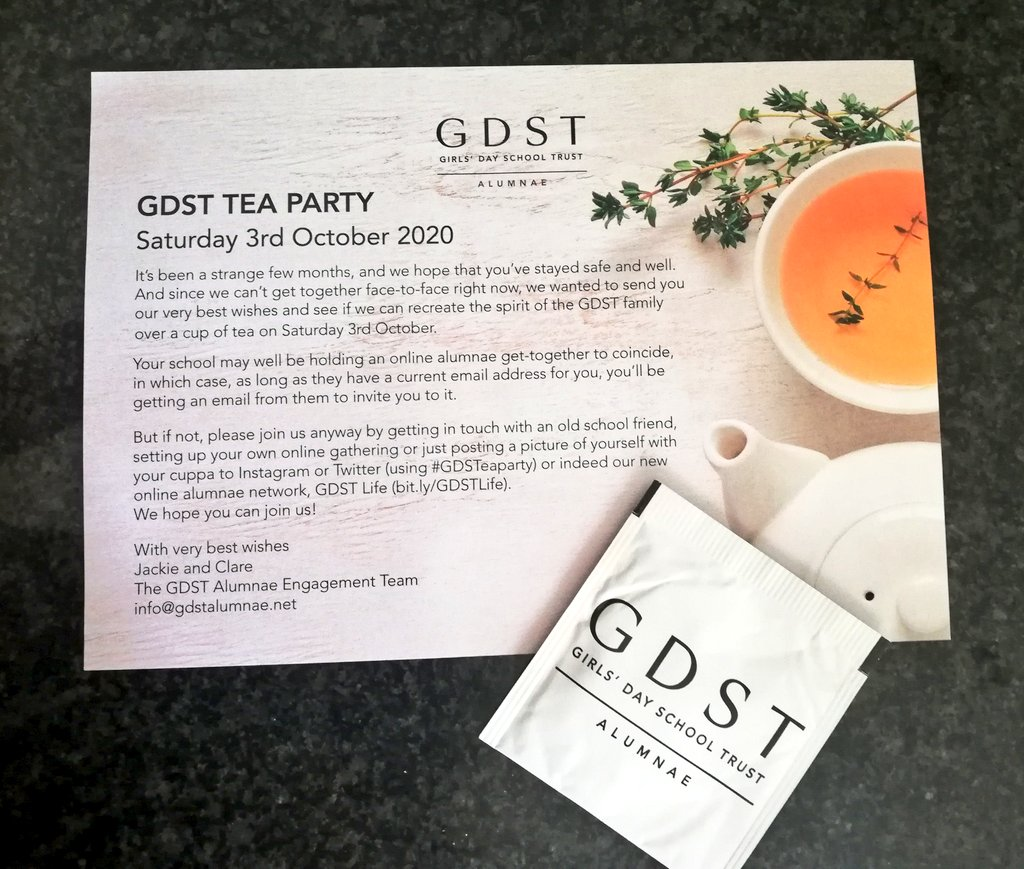 @Portsmouthhigh Such a thoughtful way of getting alumni together... Already planning our virtual tea party for #classof2016 @GDSTAlumnae https://t.co/UWFbZ7sCRq