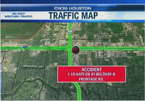 NO MORE FLASHING LIGHTS, BUT SLOWS CONTINUE - For you coming in on SW 59 at 610. Accident at I-10 is still active but on the frontage roads; no delays on main lanes. @Hannah_Trippett  LIVE STREAM:  https://t.co/hPQuQjt8Rx #thursdaymorning #houston #houstontraffic  #morningcommute https://t.co/sxalNShMu9