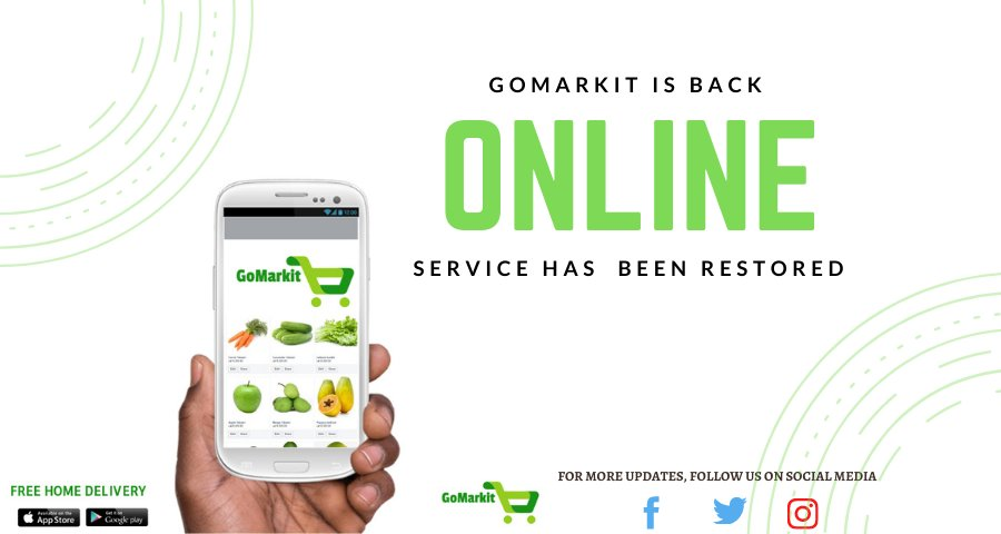 Dear Customers,   We are back online and the system has been fully  restored. You can now send your orders.  We sincerely apologize for the inconvenience .   Thank you for your patience.   #GoMarkitSL https://t.co/sifsm7JIIh