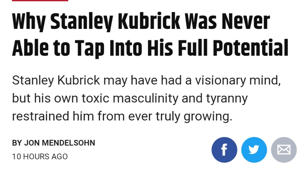 Begging film twitter to not get mad about the Kubrick take, it's not worth it https://t.co/J7fvDsi70x