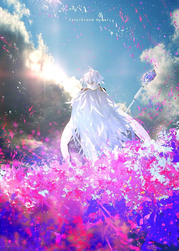 [FGO] 花園に佇むプロトマーリンの背中が美しい…