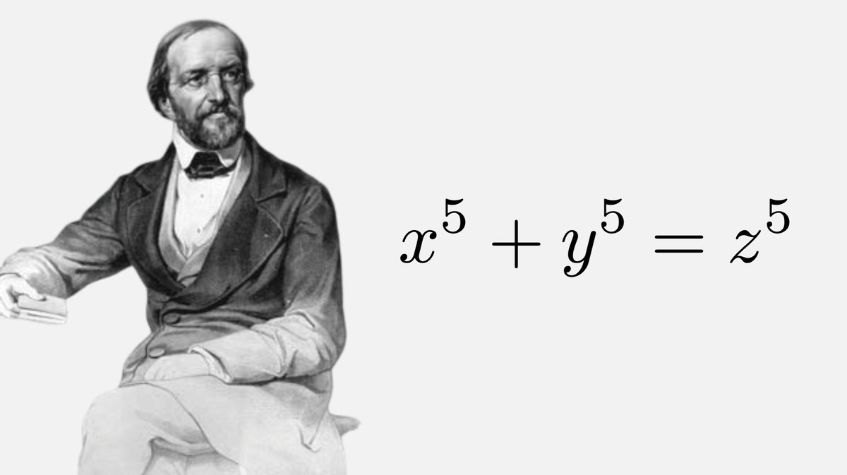 Gustav Dirichlet (1805–1859) proved, at the age of 20, that Fermat's Last Theorem has no solution when n=5