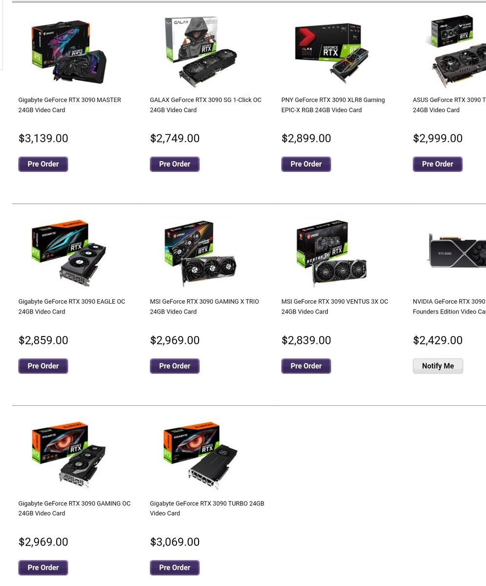 Holy shit 3090s are 3k????