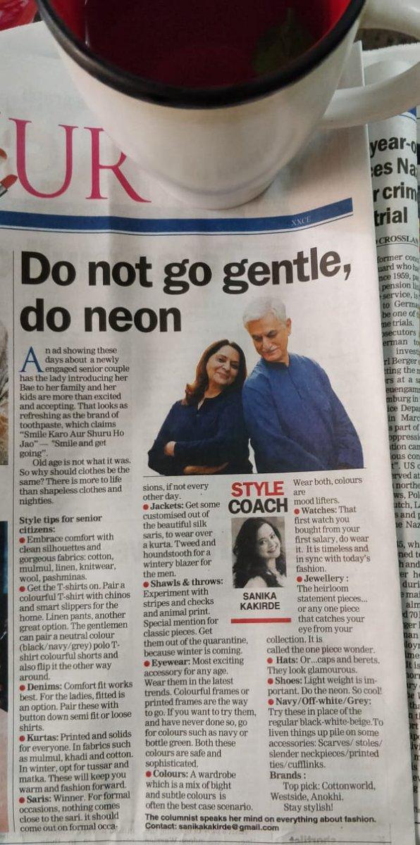 #Thursday @ttindia #thetelegraph #senior #citizens #style #for #all #sankikakakirde #Personal #stylist https://t.co/Ok91bkbb12