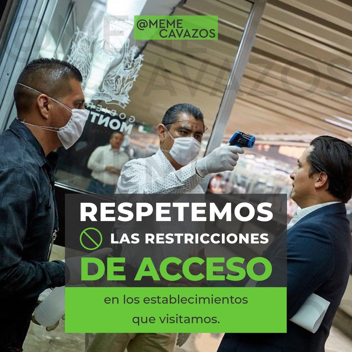 Si acudes a cualquier establecimiento respeta las medidas que tienen. No te confíes el virus sigue, cuídate y cuida a los tuyos.   #MemeCavazos #MonterreyTrabajando #SeryHacerlaDiferencia  #Covid19 #coronavirusmexico https://t.co/sivFmHpPz4