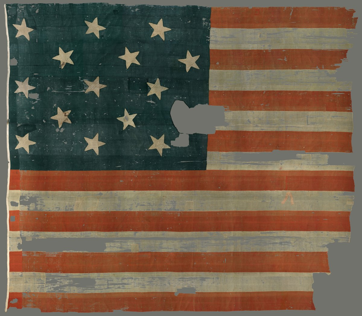 Tomorrow, @amhistorymuseum reopens. In celebration, #beerhistory treasure #67 is the Star-Spangled Banner, sewn by a 37 yo widowed woman & 4 teenage girls, including Afr. Am. indentured servant Grace Wisher, on the floor of a Baltimore brewery's malthouse. #smithsonianfood #beer https://t.co/cp5jHSt04k