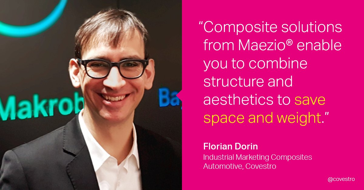 Our own Florian Dorin discusses the fascinating world of possibilities opened up by #Maezio® composites at this year's Car Smart Interior Online Conference. 👇 Learn more here: https://t.co/QVfMZED5E8 https://t.co/PWWonUr0fT
