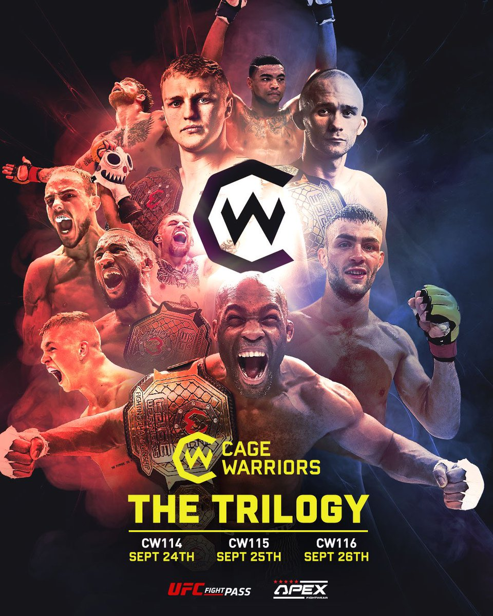3 straight nights of Cage Warriors LIVE on @UFCFightPass starts tonight! https://t.co/OwrUZpm0FC
