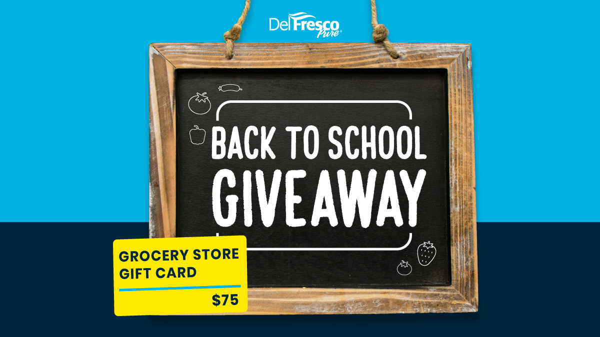 Back to School GIVEAWAY ALERT! Interested in winning a $75 gift card for groceries? It's sure to help out with all the school shopping! Go to the DelFrescoPure® Instagram page to enter.  #DelFrescoPure #School #BackToSchool #Sweepstakes #Giveaway #GiveawayAlert #Win #EnterToWin https://t.co/695mTU53Kf