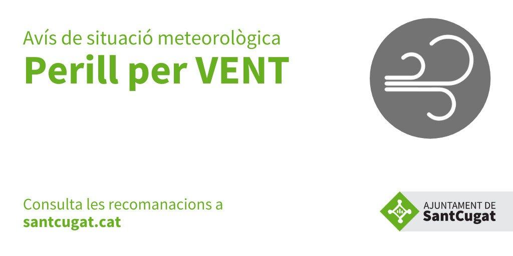 ACTIVEM la situació de PRE-ALERTA del Pla de #ProteccióCivil pel perill de VENT que pot afectar a la nostra comarca demà dia 25 #SantCugat  @JoseGallardoSTQ @FrancescCarol @policiastc @avpcstcugat