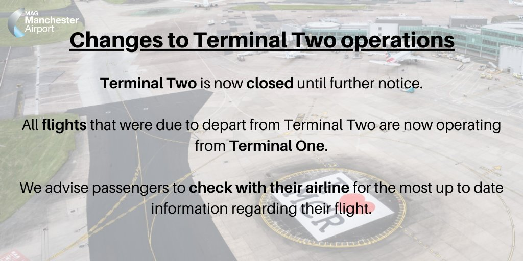 Terminal Two remains closed until further notice. https://t.co/hYBhewaznA