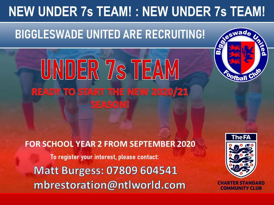 Looking for players and help!Great way to get the kids involved in youth football and get a bit of fresh air. Supported and run by a brilliant grassroots club in @Biggleswadeutd. Contact myself via Twitter or @mattyboycoach for more info! @BedsFA @SecBiggleswadeU @GuillemBalague https://t.co/7GHkKazvT7