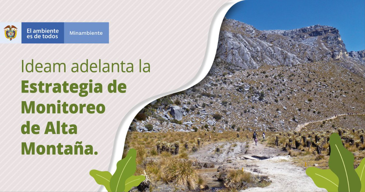 #ColombiaPaísDePáramos Con el liderazgo de @MinAmbienteCo desarrollamos acciones de conservación como la Estrategia de Monitoreo de Alta Montaña y la implementación del protocolo para el monitoreo y seguimiento del ciclo del agua y el carbono en ecosistemas de alta montaña #ONU75 https://t.co/IxEBMxKpeV