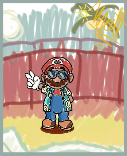 Mario wishes you a happy summer !! https://t.co/nkCFXAPcZf