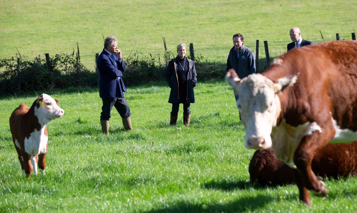 Her Royal Highness was there to hear about the importance of local food production, the challenges faced by farmers as a result of coronavirus and the opportunities facing farmers and food producers to meet the growing interest in supporting and buying locally and sustainably.