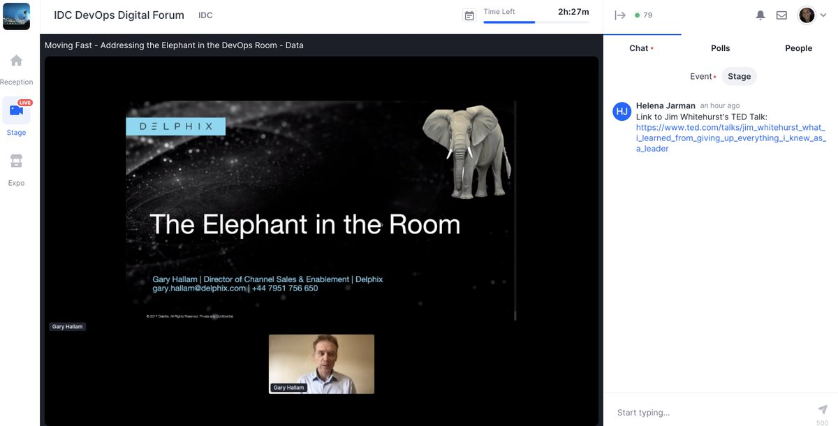 """""""Moving data doesn't have to be like moving elephants."""" Thanks to everyone who attended @lynbandit's keynotes at UKI #DevOps Live 2020. We hope that you enjoyed the session as much as we enjoyed running it! @Computing_News https://t.co/JpARdWbEKM"""