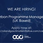 Image for the Tweet beginning: New Job Opportunity: OGCI Climate