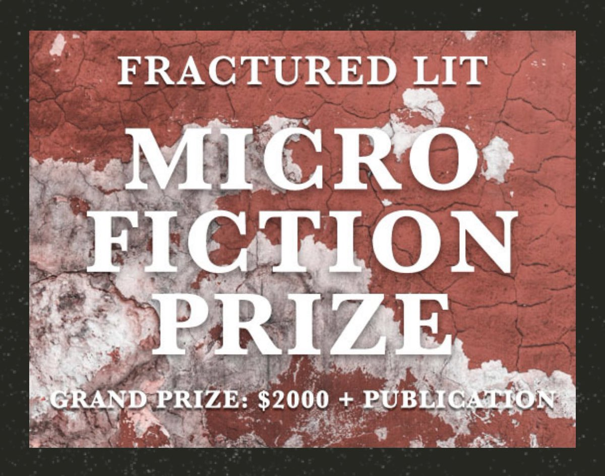Flash fiction writers! Craft those tiny stories down to 400 words, and enter this micro contest at @FracturedLit! A great platform for the flash form. #flashfiction #amwriting #microfiction #WritingCommunity   https://t.co/BbIzdNvG6M https://t.co/ISnpMYJBX7