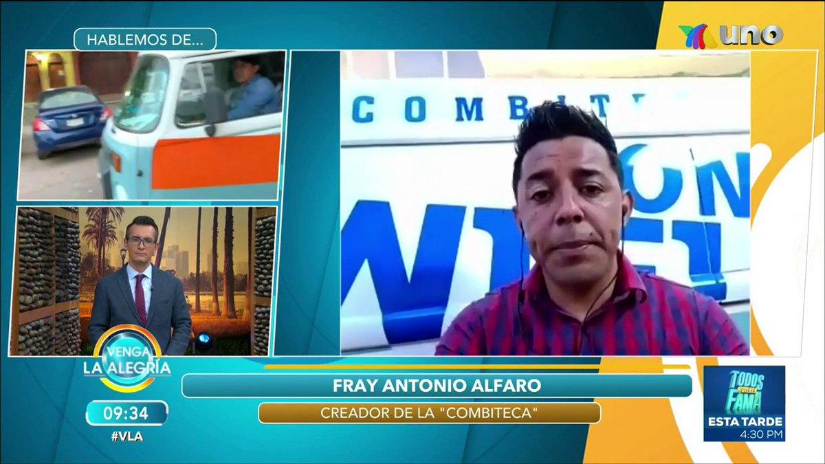 """¡En #VLA es momento que #HablemosDe la """"Combiteca"""" un vehículo hecho por el Profesor Fray Antonio Alfaro para llevar internet gratis a estudiantes de Chiapas! 🙌🎉🚐📡💻 >> https://t.co/gQ6ToBhlaQ https://t.co/WkAXhZoVJe"""