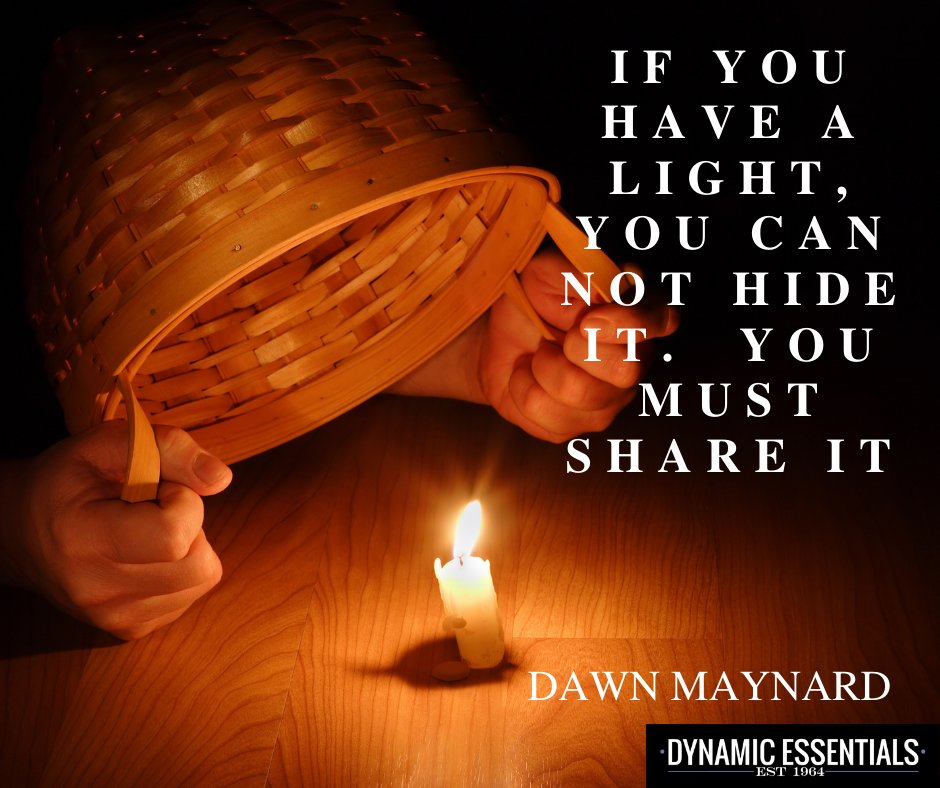 Hiding your light doesn't make sense and will put out the fire.  Register at https://t.co/w2U4oYNJtp  #DE #DE2020 #dynamicessentials #lastingpurpose #lifede #lifeprinciple #nothingisbiggerthanlife #riseup https://t.co/A88tFx8RmJ