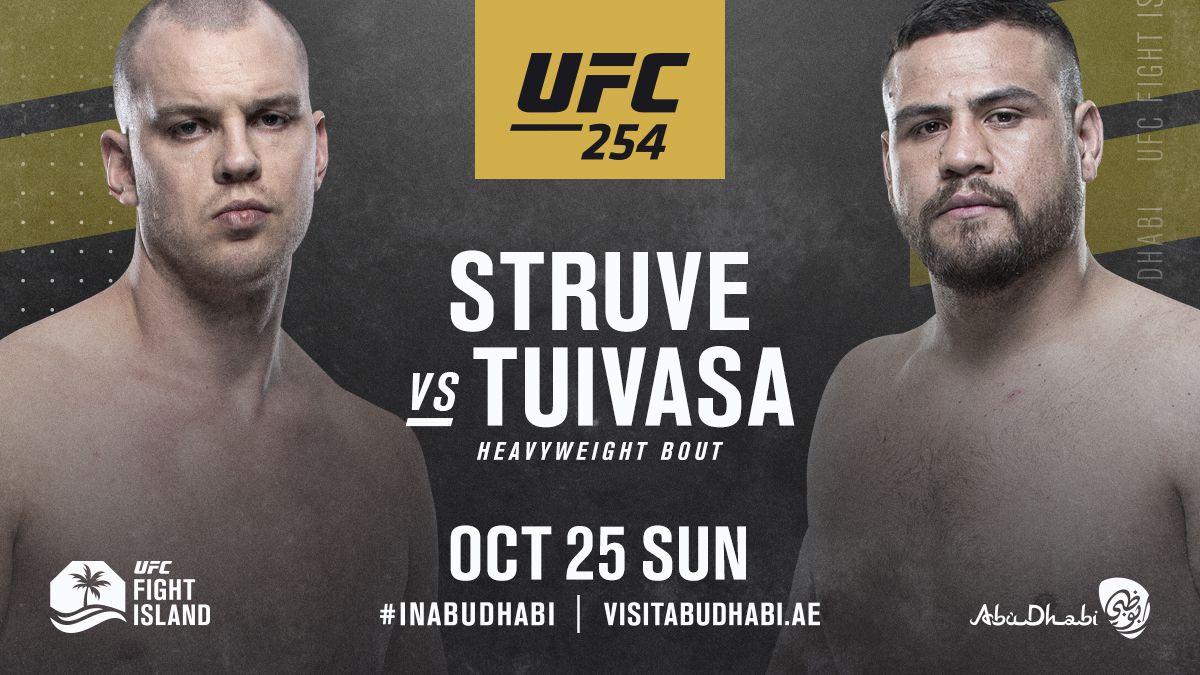 #UFC254: @StefanStruve vs @BamBamTuivasa booked for Oct. 24 in Abu Dhabi https://t.co/I6DQofYb5I https://t.co/i8xgqxZ2Mn