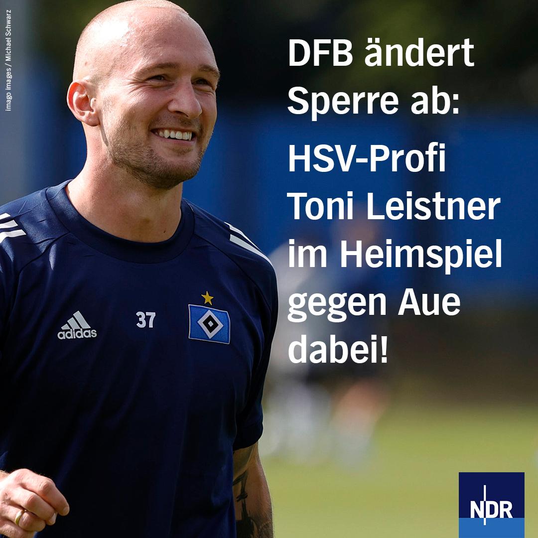 HSV-Profi Toni #Leistner ist ab kommender Woche wieder spielberechtigt. Einzelheiten: https://t.co/0MoMa627uy https://t.co/IF4aQVXOwj
