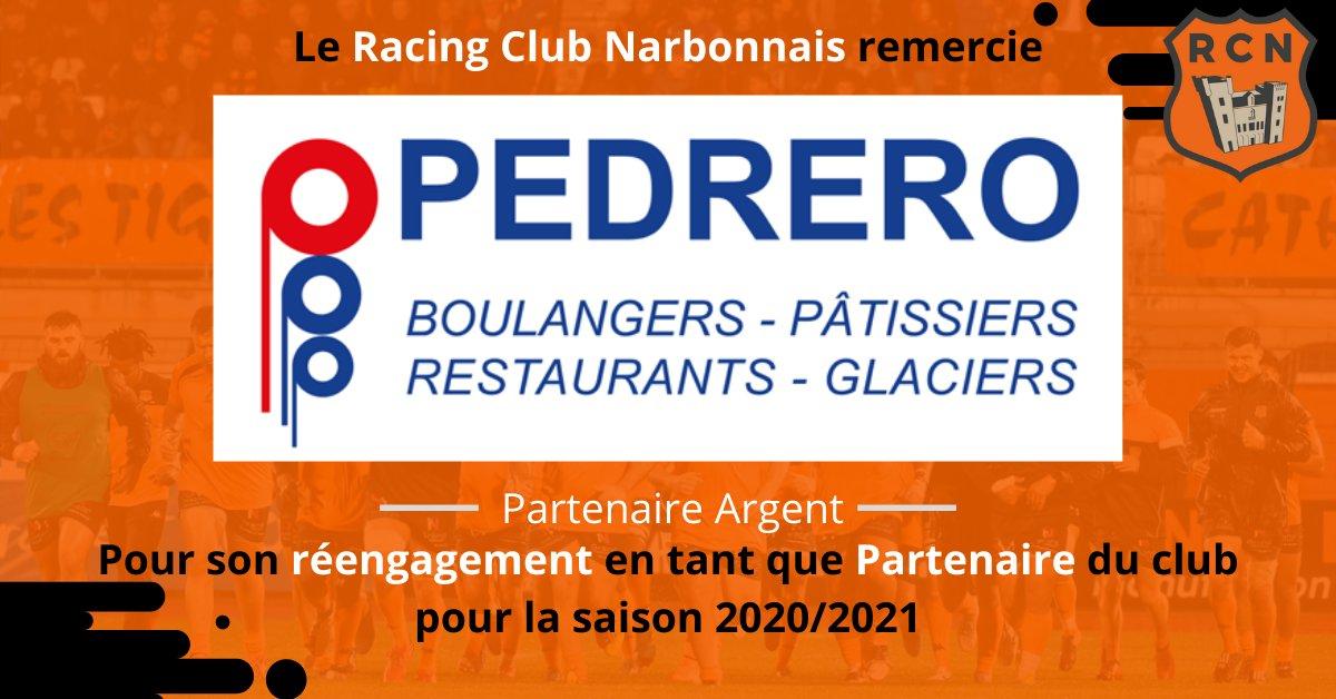 PARTENARIAT 📝  Le Racing Club Narbonnais remercie l'entreprise Pedrero pour son...