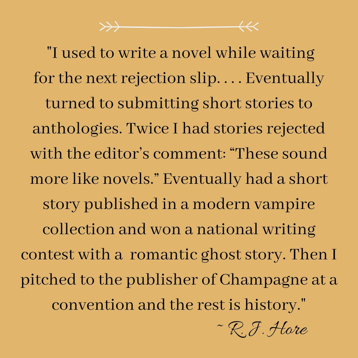 Who doesn't love a good writing success story?! Here is a quote from CBG author R. J. Hore about how he got into writing novels. He had THREE novels come out earlier this month--have you had a chance to check them out yet?  #champagnebooks #writing #successstory #indiepublishing https://t.co/1JU4TrRu3y