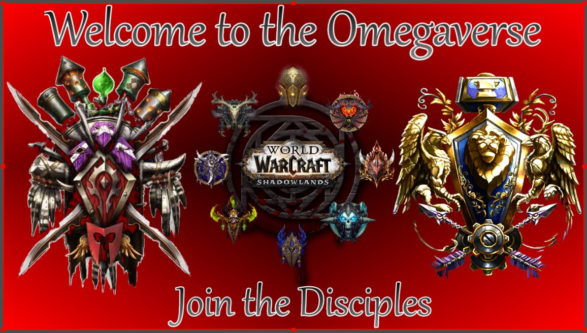 Join the Disciples of Omega at https://t.co/gCdV2ZaKnA #WoW #twitchstreamer #twitch #twitchtv #Shadowlands #worldofwarcraft https://t.co/OBtIGyUXn4