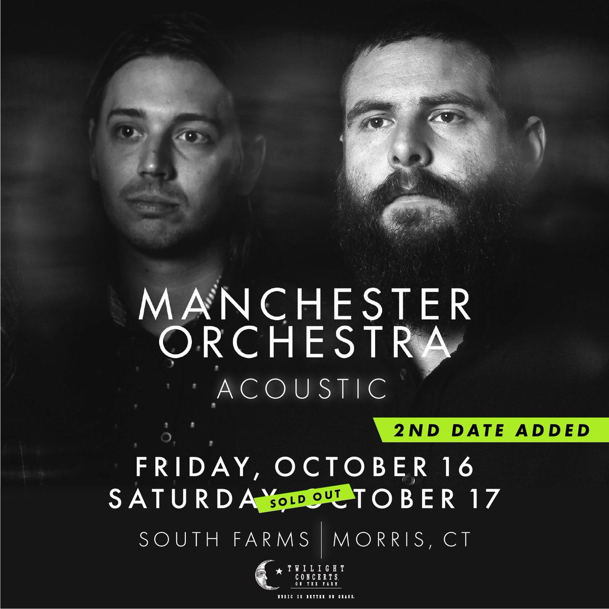 Our first show at South Farms in Morris, CT is officially sold out!   A second show on Friday, October 16 has been added and tickets are on sale now: https://t.co/al8S5l6RuJ https://t.co/e76IapRm5k