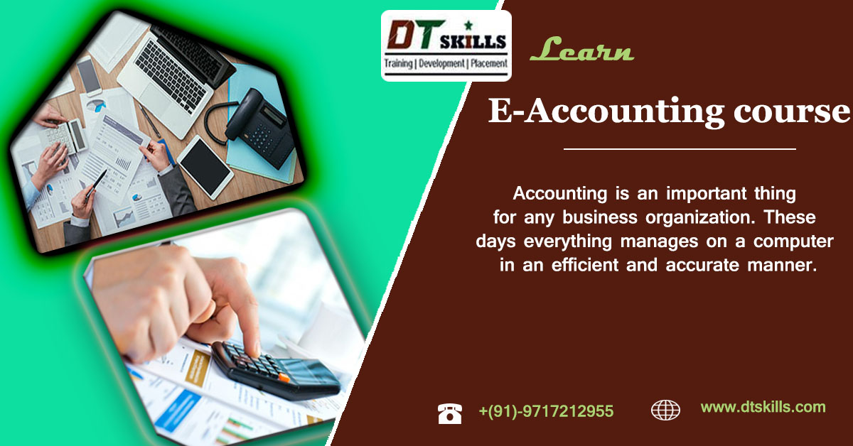 Accounting is an important thing for any business organization. These days everything manages on a computer in an efficient and accurate manner. Learn E-Accounting with GST  #accounting #business #accountant #finance #smallbusiness  #entrepreneur #payroll #taxseason #accountants https://t.co/h9MlGutdn3