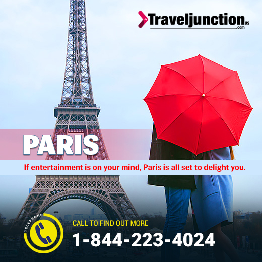 If entertainment is on your mind, #Paris is all set to delight you. Classical bistros, museums and design shops are there to fill some of the most beautiful travel moments. #Traveljunctionus #USA #unitedstates #travel #CheapFlight https://t.co/KszsPsGLMh https://t.co/xzUDVDcK49