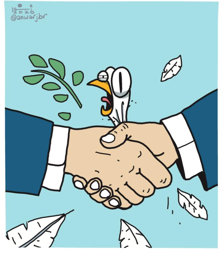 """Treaty,"" by @anwarjbr, in the Egyptian daily Al-Masry Al-Youm https://t.co/E4DSEzaoND"
