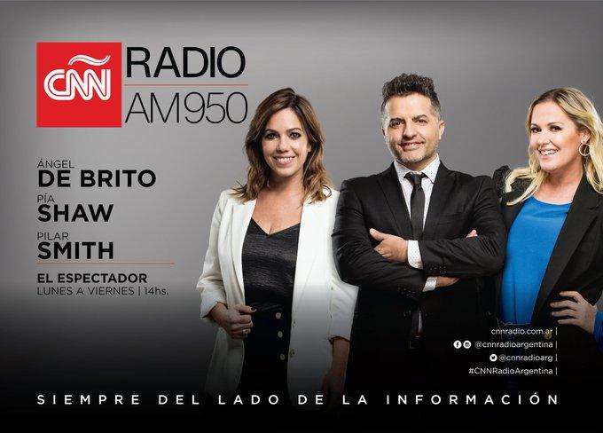 EN EL AIRE | ¡Llegan @AngeldebritoOk, @PiaShaw y @Pilarsmith para hacer #ElEspectador!    ¡Hasta las 16hs toda la información del #espectáculo en #CNNRadioArgentina!   Descargá la app acá https://t.co/MrlUM4SbCh https://t.co/b3iSlVTQpR
