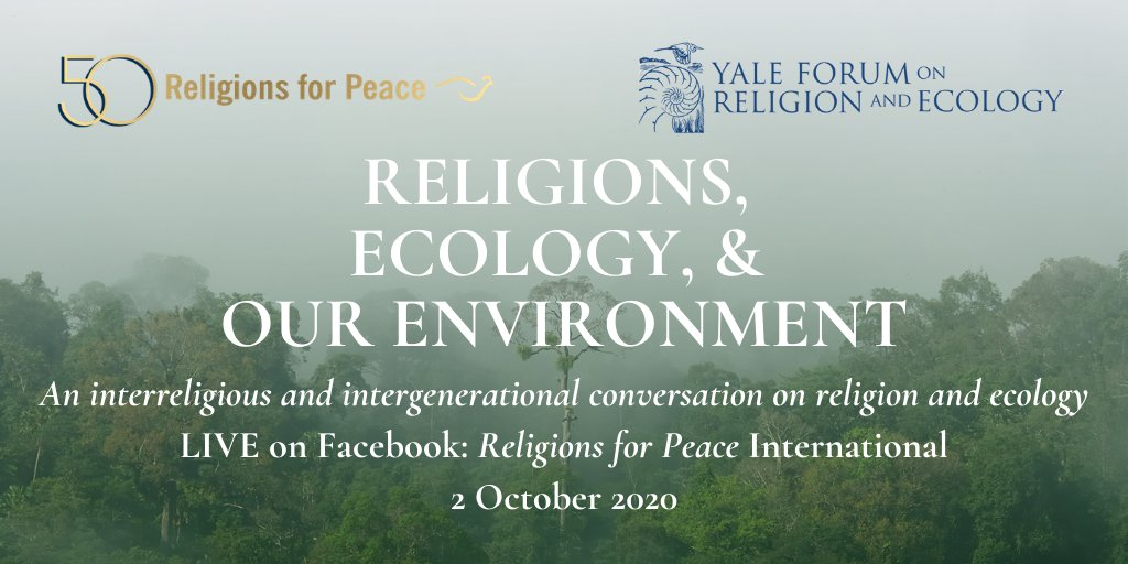 📢 Save the date for an #interfaith & intergenerational conversaton on #religion & #ecology   🗓️ 2 October ⏰ 9-11am ET 💻 Co-hosting with @Yale Forum on Religion & Ecology 🌐 Watch live on our Facebook page!  With @RenzArgao @K_lupemba @CMerylene @IriPeru https://t.co/QdpEEVkXf5