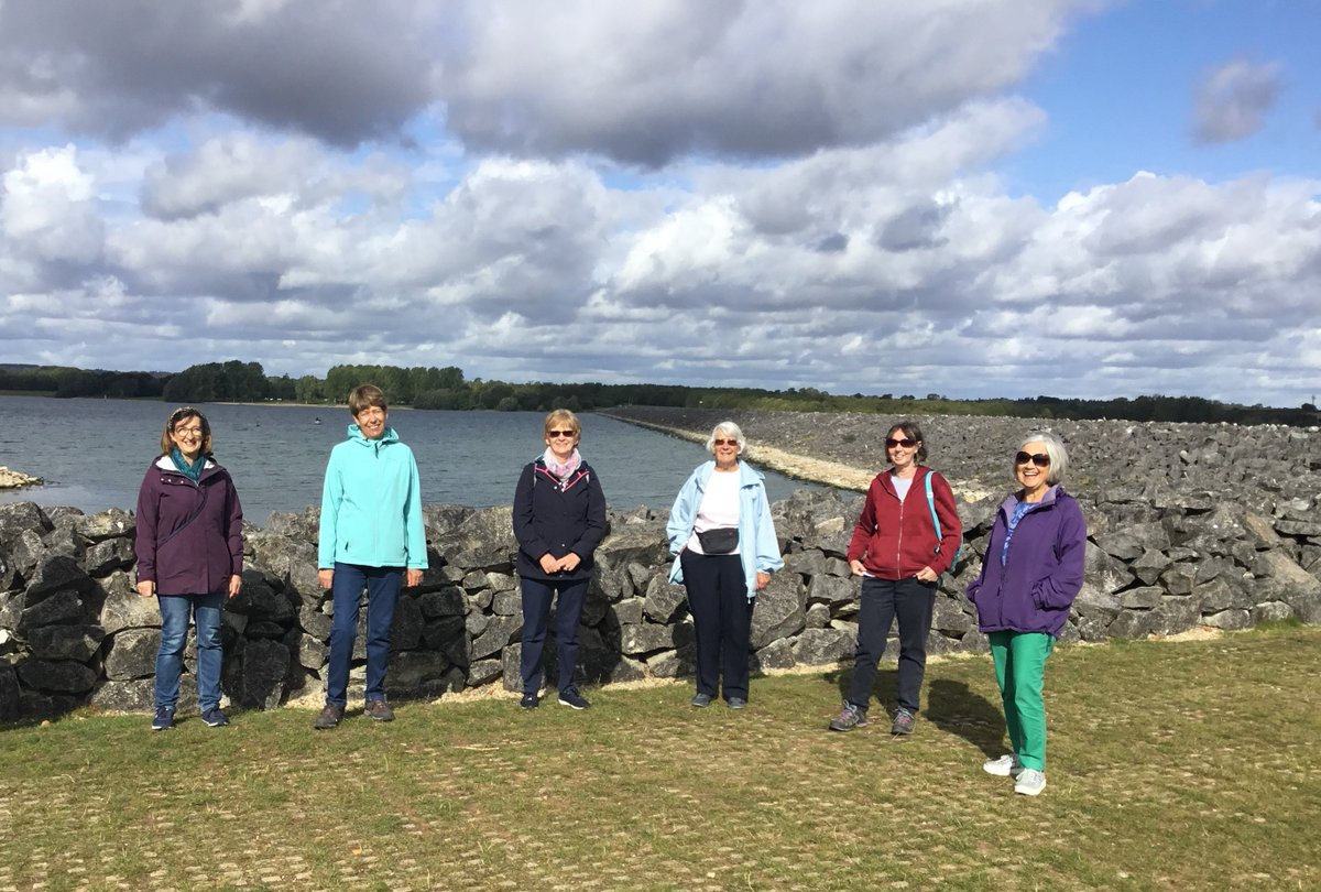 Two groups from Oakham WI enjoyed a walk at beautiful Rutland Water today. A bit of rain but worth it to chat in the flesh. @WomensInstitute