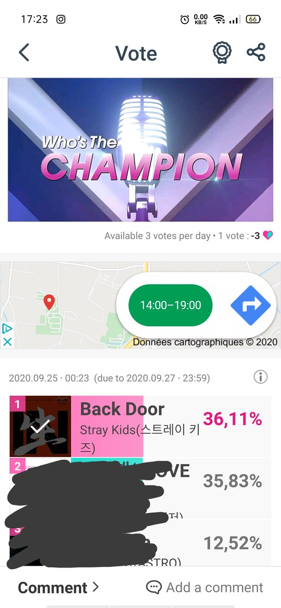 OMG! The gap is so small! Please vote in #idolchamp STAY! You got 3 votes per day! Use it please! 🥺 Do it for the team! @Stray_Kids #straykids #StrayKids_BackDoor https://t.co/KC3udhGxTh