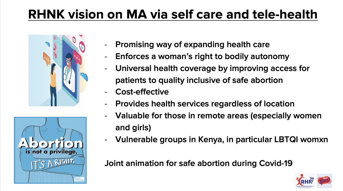 She also tells us about the @RHNK vision on #womenshealth via self-care and #telemedicine, and how it can be a valuable lifeline for those in remote areas and vulnerable women. #FIGOWebinar #IManageMyAbortion https://t.co/kQOuZHbxGM