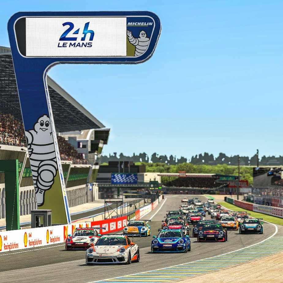 #PESC - 13.626 km on the legendary #CircuitdelaSarthe. Some 40 #Porsche #911GT3Cup. A thrilling fight for the championship in the #Porsche @TAGHeuer #Esports #Supercup. Be ready for exciting races! @iRacing action starts Saturday at 3:45 pm  Watch live: https://t.co/164YaAmwV8 https://t.co/N6K8UkemQy