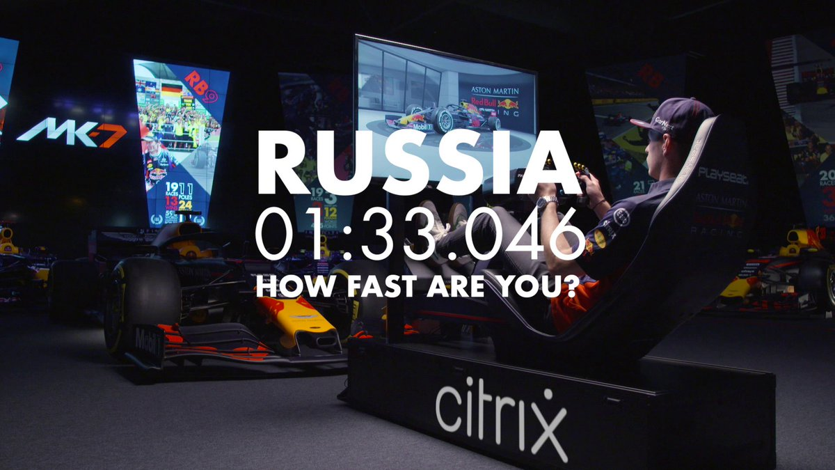 How fast are you? ⏱ @Max33Verstappen takes you on a hot lap around the Sochi Autodrom powered by @Citrix 👊 #RussianGP 🇷🇺 #UnlockPotential https://t.co/VSvsFXRDKc